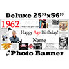 1962 CUSTOM PHOTO DELUXE BANNER PARTY SUPPLIES