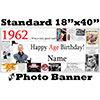 1962 CUSTOM PHOTO BANNER PARTY SUPPLIES