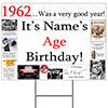 1962 PERSONALIZED YARD SIGN PARTY SUPPLIES