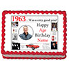 1963 PERSONALIZED EDIBLE PHOTO CAKE IMGE PARTY SUPPLIES