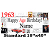 1963 PERSONALIZED BANNER PARTY SUPPLIES