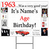 1963 PERSONALIZED YARD SIGN PARTY SUPPLIES