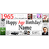 1965 PERSONALIZED BANNER PARTY SUPPLIES