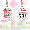 1966 - 53RD BIRTHDAY CUSTOM DANGLER PARTY SUPPLIES