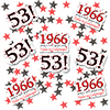 1966 - 53RD BIRTHDAY DECO FETTI 24/PKG PARTY SUPPLIES