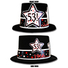 1966 - 53RD BIRTHDAY TOP HAT PARTY SUPPLIES