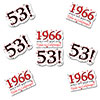 1966 - 53RD BIRTHDAY STICKER SEAL PARTY SUPPLIES