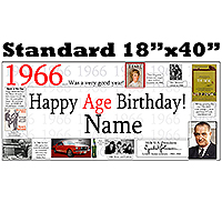 1966 PERSONALIZED BANNER PARTY SUPPLIES