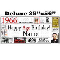 1966 DELUXE PERSONALIZED BANNER PARTY SUPPLIES