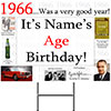 1966 PERSONALIZED YARD SIGN PARTY SUPPLIES