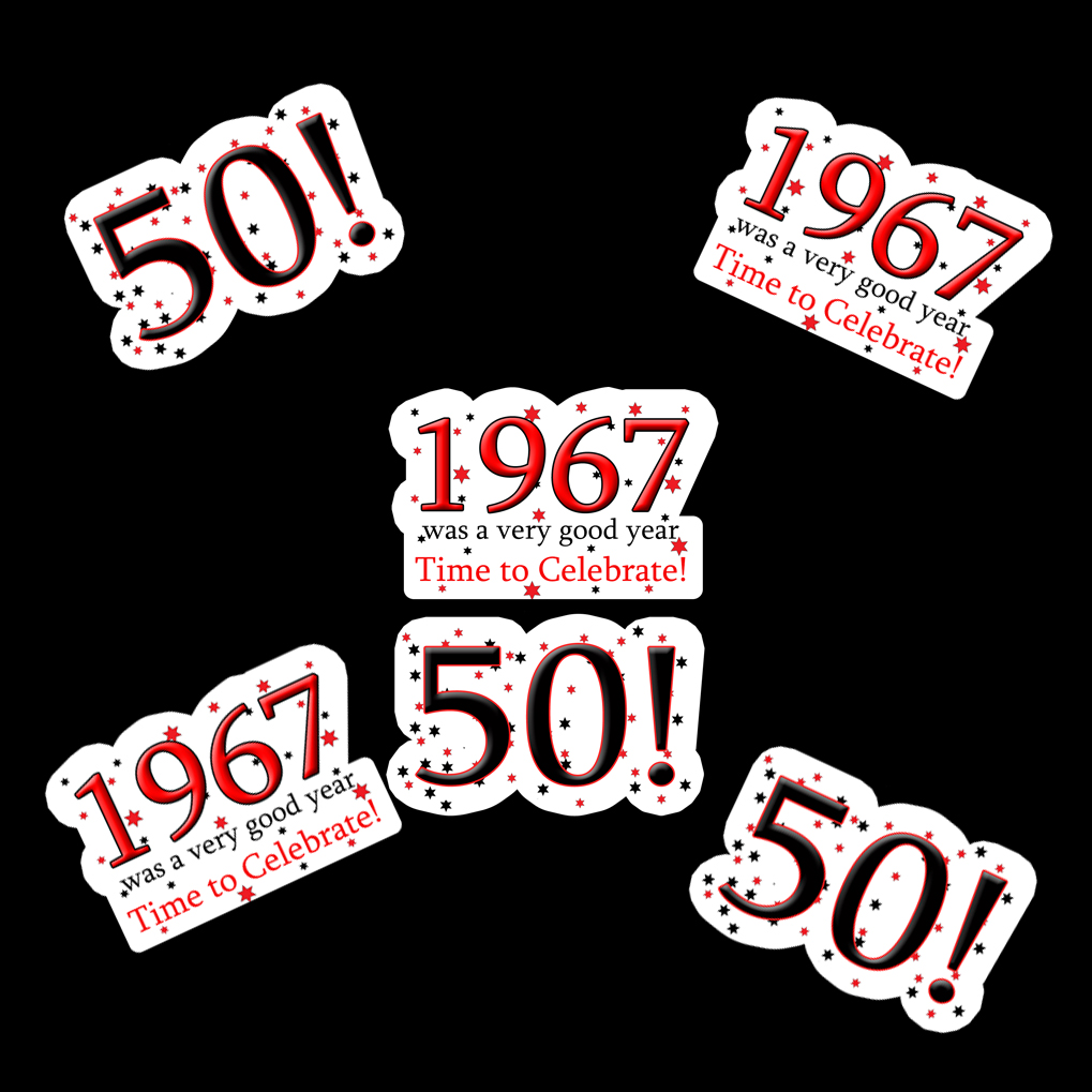 1967 party supplies 1967 50th birthday deco fetti for 50th birthday decoration packages