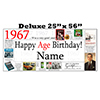 1967 DELUXE PERSONALIZED BANNER PARTY SUPPLIES