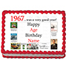 1967 PERSONALIZED ICING ART PARTY SUPPLIES