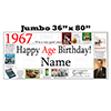 1967 JUMBO PERSONALIZED BANNER PARTY SUPPLIES
