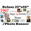 1967 CUSTOM PHOTO DELUXE BANNER PARTY SUPPLIES