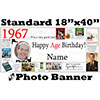 1967 CUSTOM PHOTO BANNER PARTY SUPPLIES