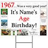 1967 PERSONALIZED YARD SIGN PARTY SUPPLIES