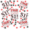 1968 - 51ST BIRTHDAY DECO FETTI PARTY SUPPLIES