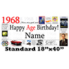 1968 PERSONALIZED BANNER PARTY SUPPLIES