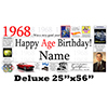 1968 DELUXE PERSONALIZED BANNER PARTY SUPPLIES