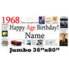 1968 JUMBO PERSONALIZED BANNER PARTY SUPPLIES