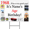 1968 PERSONALIZED YARD SIGN PARTY SUPPLIES