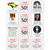 1969 - 50TH BIRTHDAY COASTER PARTY SUPPLIES