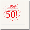 1969 - 50TH BIRTHDAY LUNCHEON NAPKIN PARTY SUPPLIES