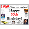 1969 - 50TH BIRTHDAY PLACEMAT PARTY SUPPLIES