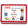 1969 PERSONALIZED EDIBLE ICING IMAGE PARTY SUPPLIES