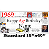 1969 PERSONALIZED BANNER PARTY SUPPLIES