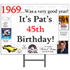 1969 PERSONALIZED YARD SIGN PARTY SUPPLIES