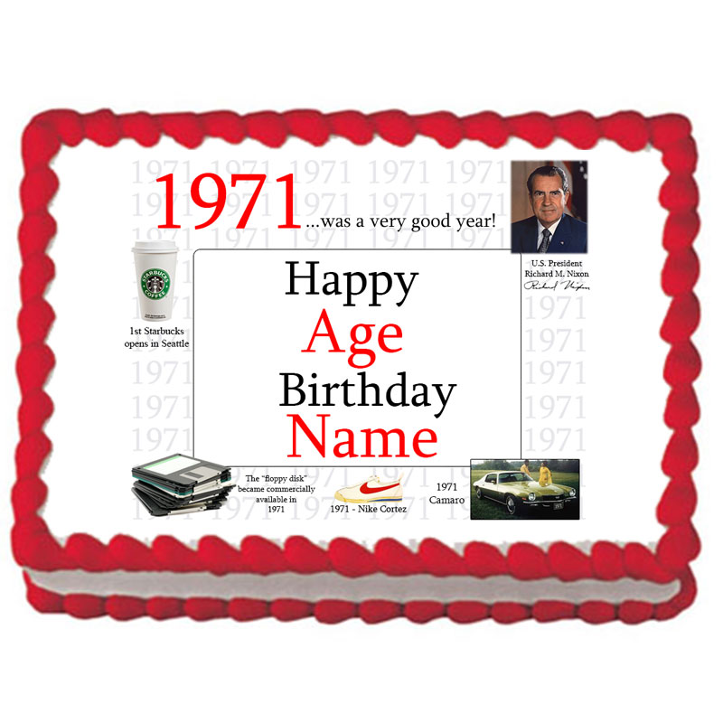 Click for larger picture of 1971 PERSONALIZED ICING ART PARTY SUPPLIES