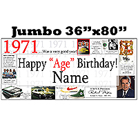 1971 JUMBO PERSONALIZED BANNER PARTY SUPPLIES