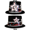 1972 - 47TH BIRTHDAY TOP HAT PARTY SUPPLIES