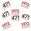 1972 - 47TH BIRTHDAY STICKER SEAL PARTY SUPPLIES