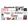 1972 PERSONALIZED BANNER PARTY SUPPLIES