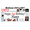 1972 DELUXE PERSONALIZED BANNER PARTY SUPPLIES