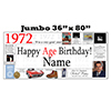 1972 JUMBO PERSONALIZED BANNER PARTY SUPPLIES