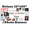 1972 CUSTOM PHOTO DELUXE BANNER PARTY SUPPLIES