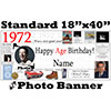 1972 CUSTOM PHOTO BANNER PARTY SUPPLIES