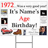 1972 PERSONALIZED YARD SIGN PARTY SUPPLIES