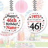 1973 - 46TH BIRTHDAY CUSTOM DANGLER PARTY SUPPLIES