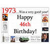 1973 - 46TH BIRTHDAY PLACEMAT PARTY SUPPLIES