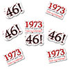 1973 - 46TH BIRTHDAY STICKER SEAL PARTY SUPPLIES