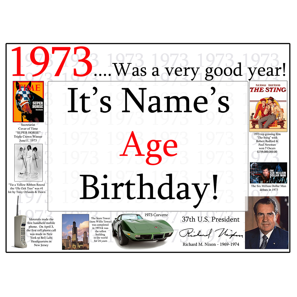 Click for larger picture of 1973 CUSTOMIZED DOOR POSTER PARTY SUPPLIES