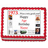 1973 PERSONALIZED EDIBLE CAKE IMAGE PARTY SUPPLIES