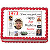 1973 PERSONALIZED EDIBLE PHOTO CAKE IMGE PARTY SUPPLIES