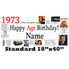 1973 PERSONALIZED BANNER PARTY SUPPLIES