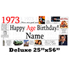 1973 DELUXE PERSONALIZED BANNER PARTY SUPPLIES